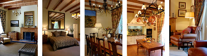 Five interior views of Schanskraal Country Manor