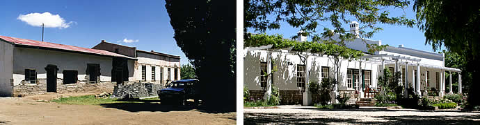 Schanskraal Country Manor before and after restoration