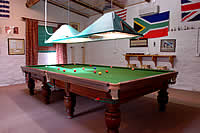 Snooker room attached to the Conference Centre